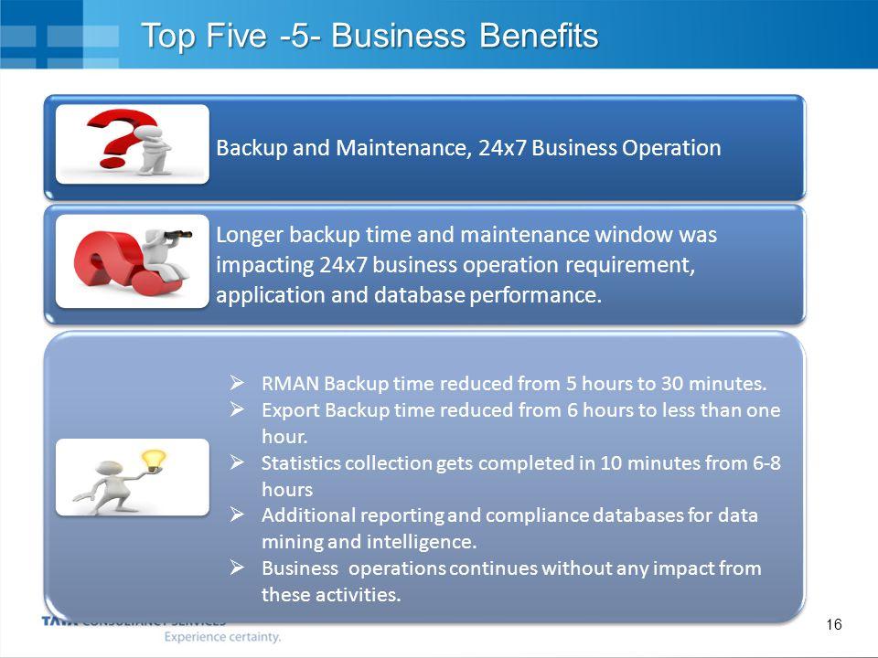 Top Five -5- Business Benefits