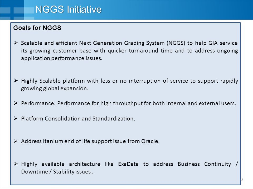 NGGS Initiative Goals for NGGS