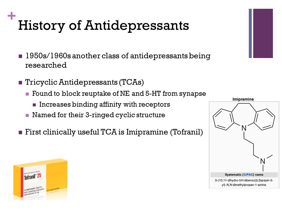 History of Antidepressants