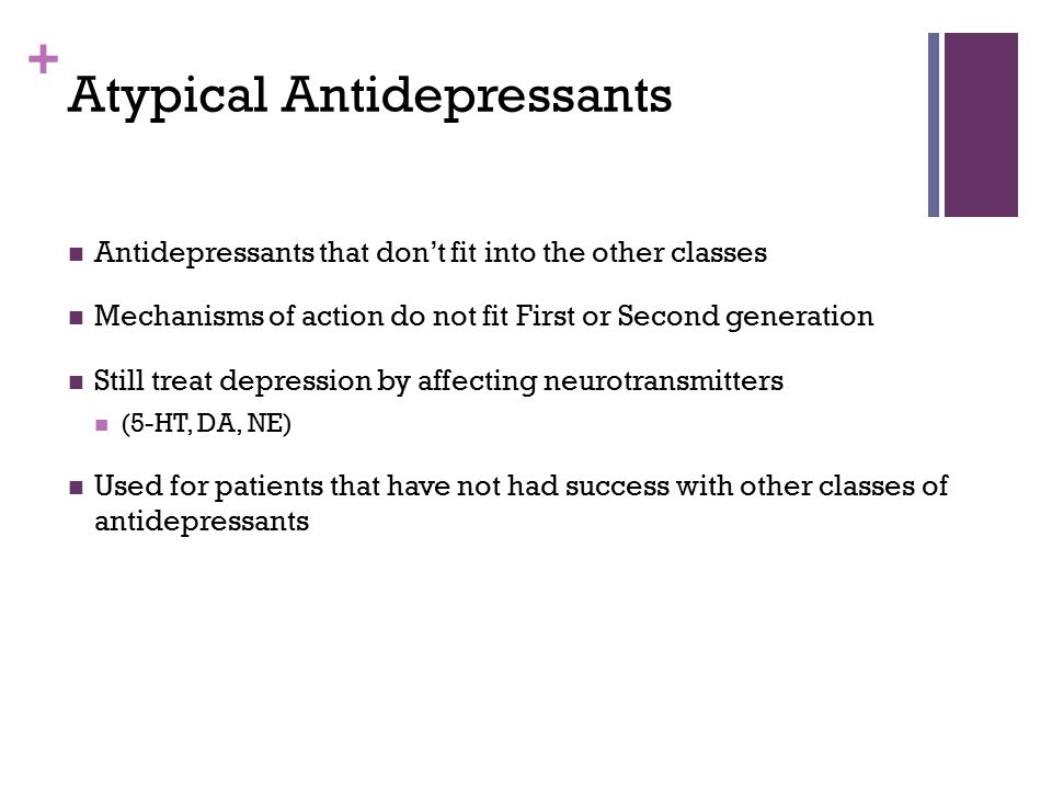 Atypical Antidepressants