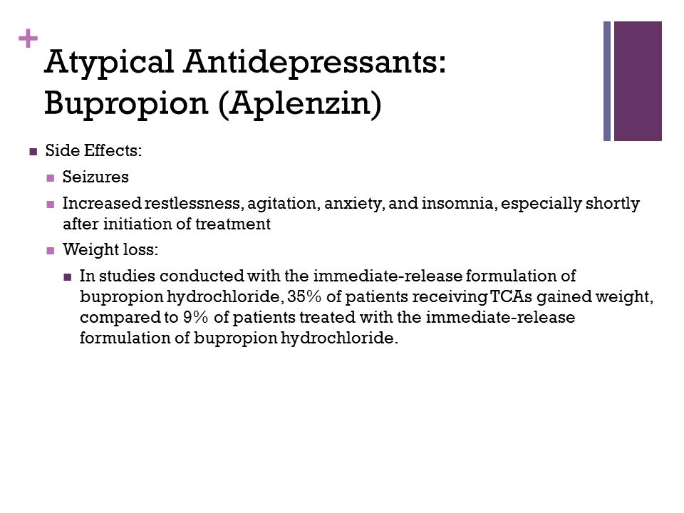 Atypical Antidepressants: Bupropion (Aplenzin)