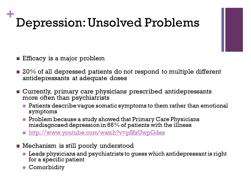 Depression: Unsolved Problems