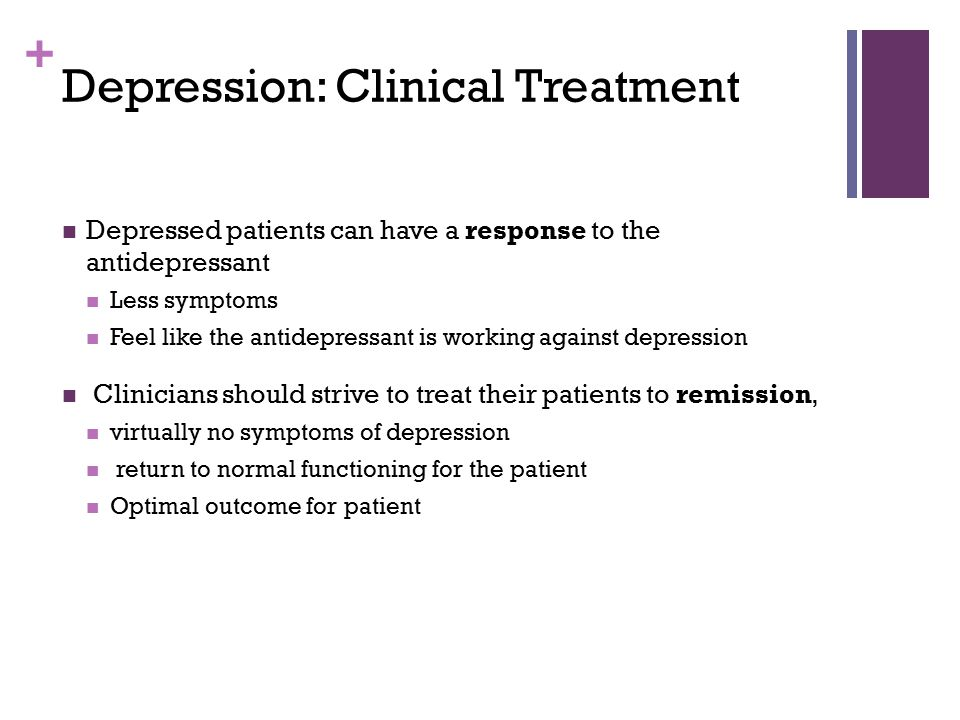 Depression: Clinical Treatment