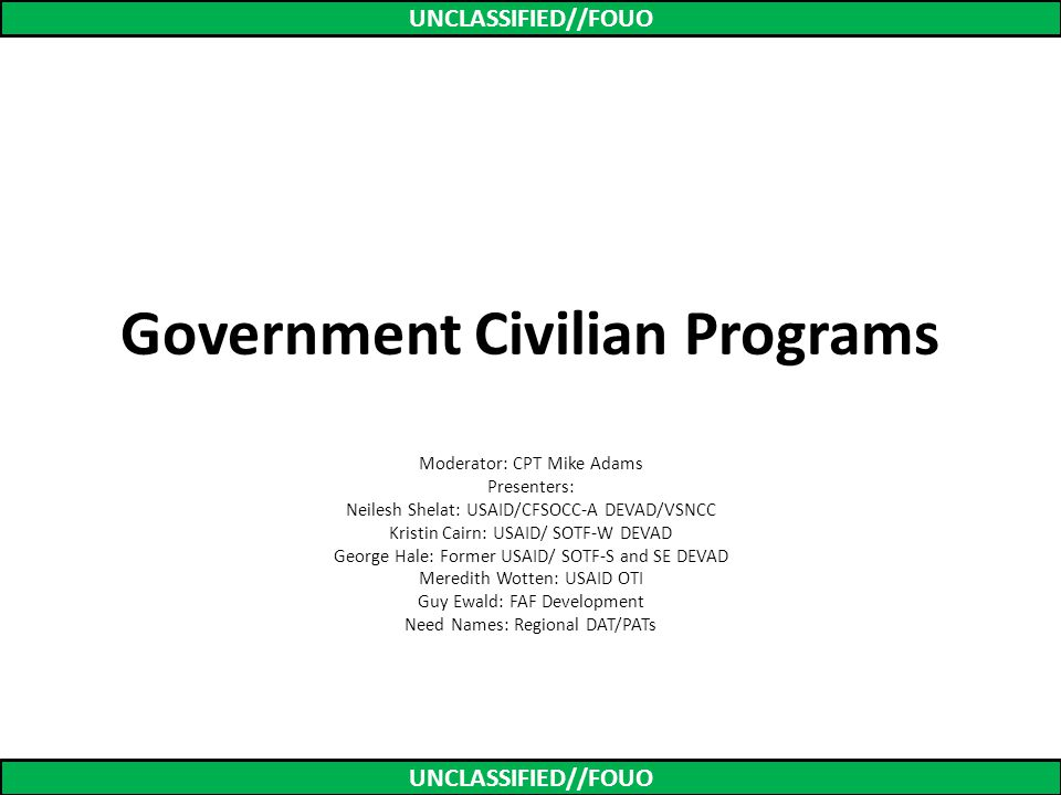 Government Civilian Programs