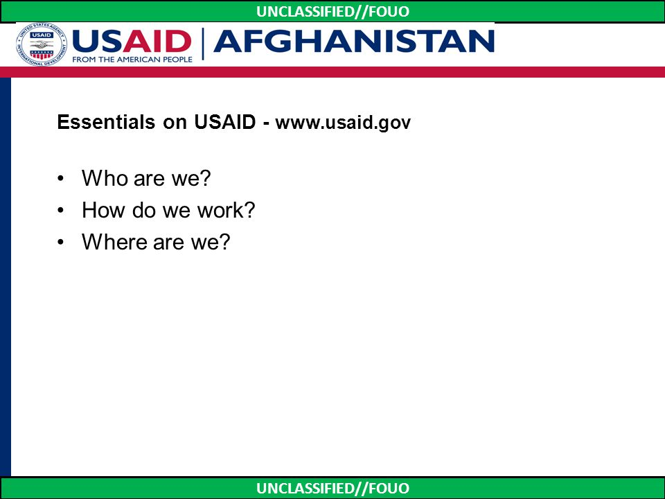 Essentials on USAID - www.usaid.gov