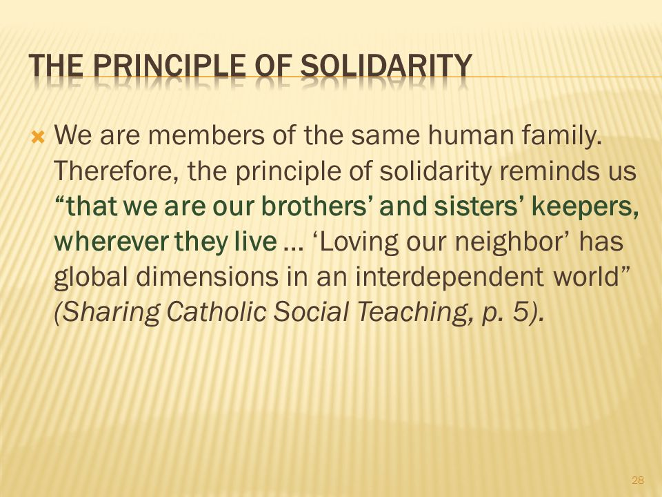 The Principle of Solidarity
