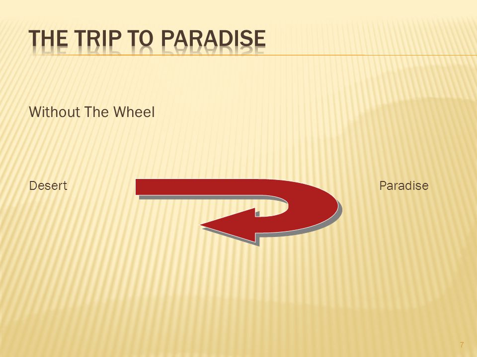 The Trip To Paradise Without The Wheel Desert Sin/Evil Paradise