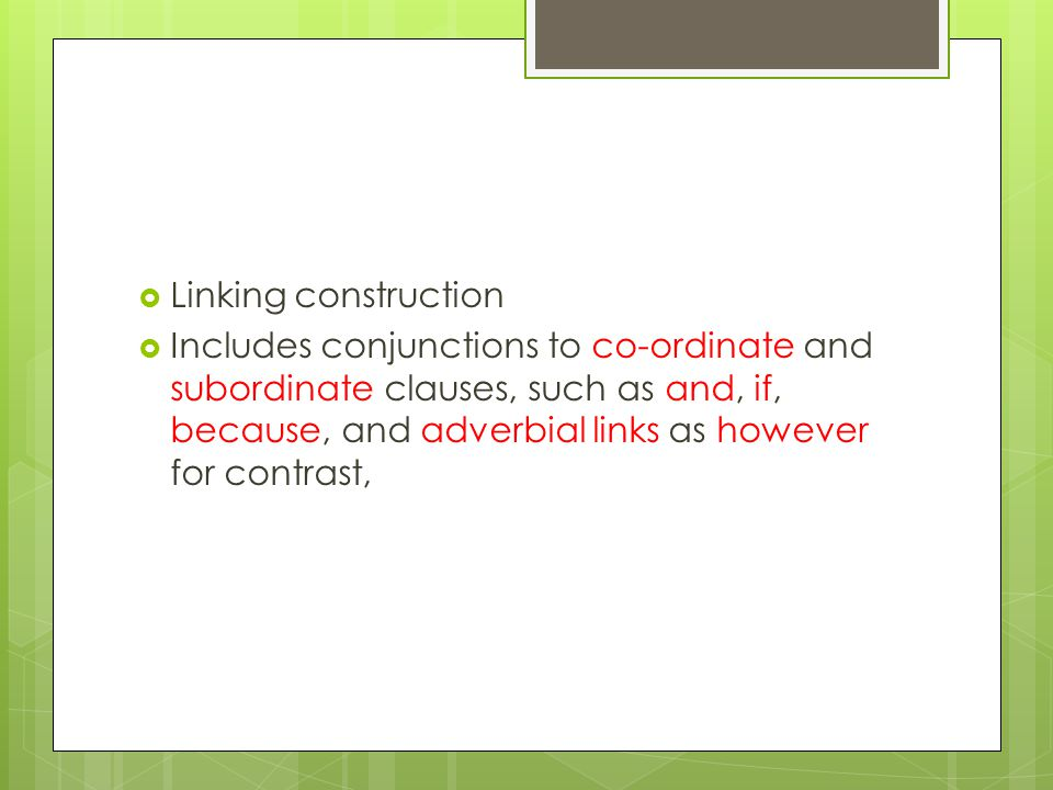 Linking construction