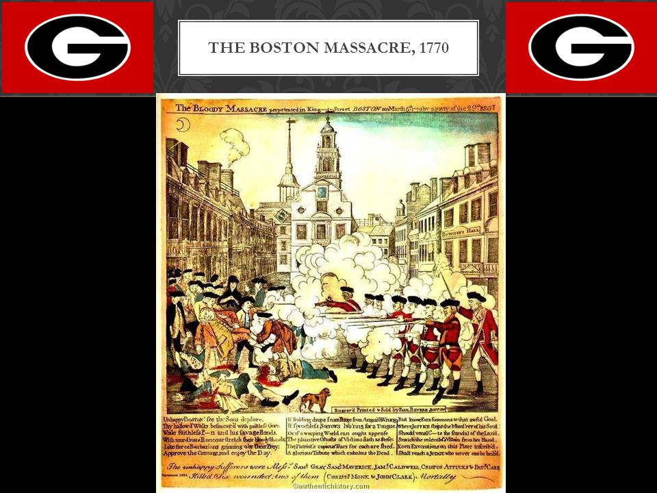 The Boston Massacre, 1770