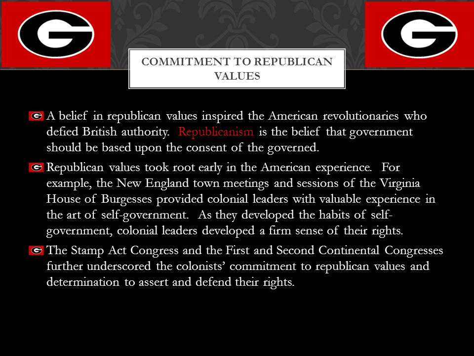 Commitment to Republican Values