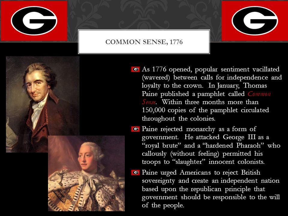 Common Sense, 1776