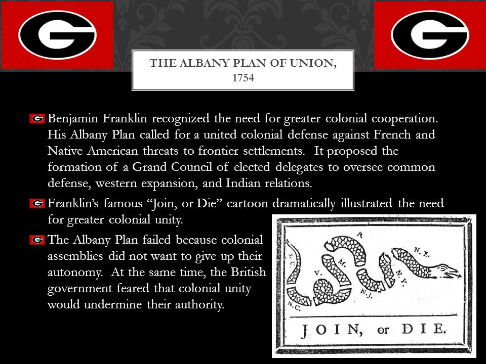 The Albany Plan of Union, 1754