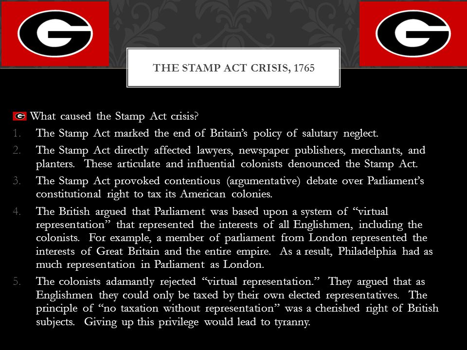 What caused the Stamp Act crisis