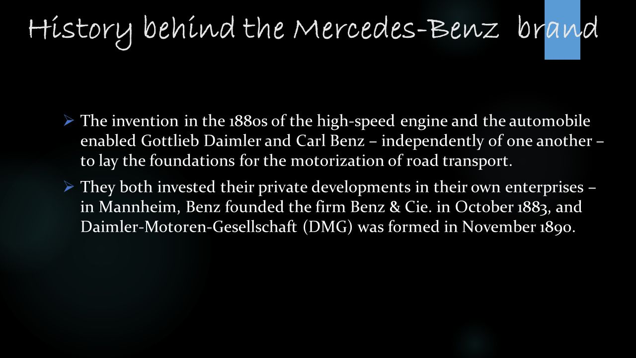 History behind the Mercedes-Benz brand