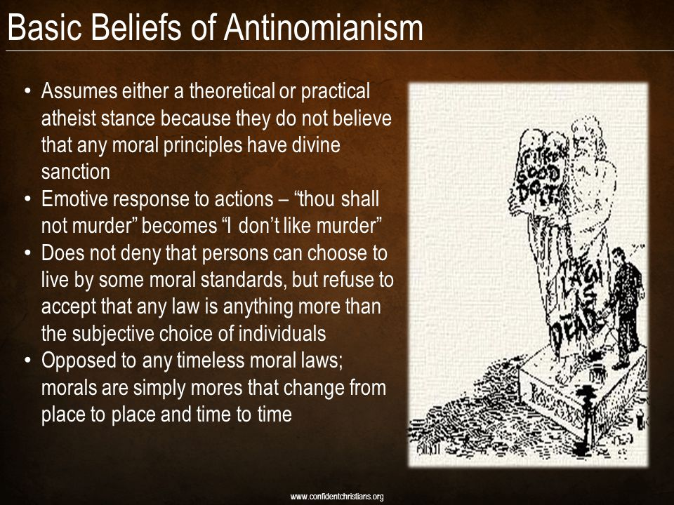 Basic Beliefs of Antinomianism