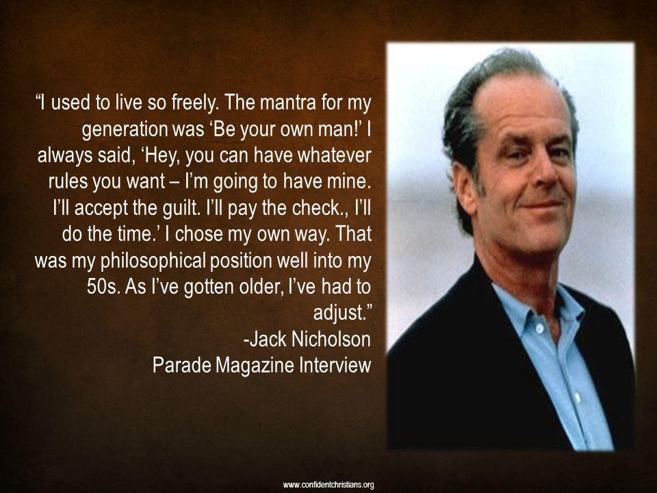 Parade Magazine Interview