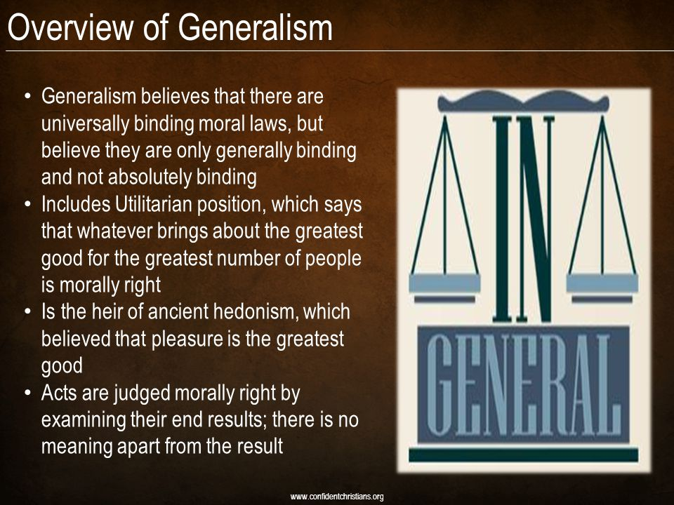 Overview of Generalism