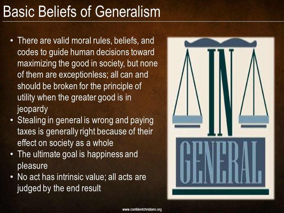 Basic Beliefs of Generalism