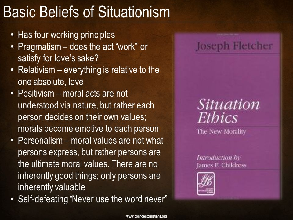 Basic Beliefs of Situationism