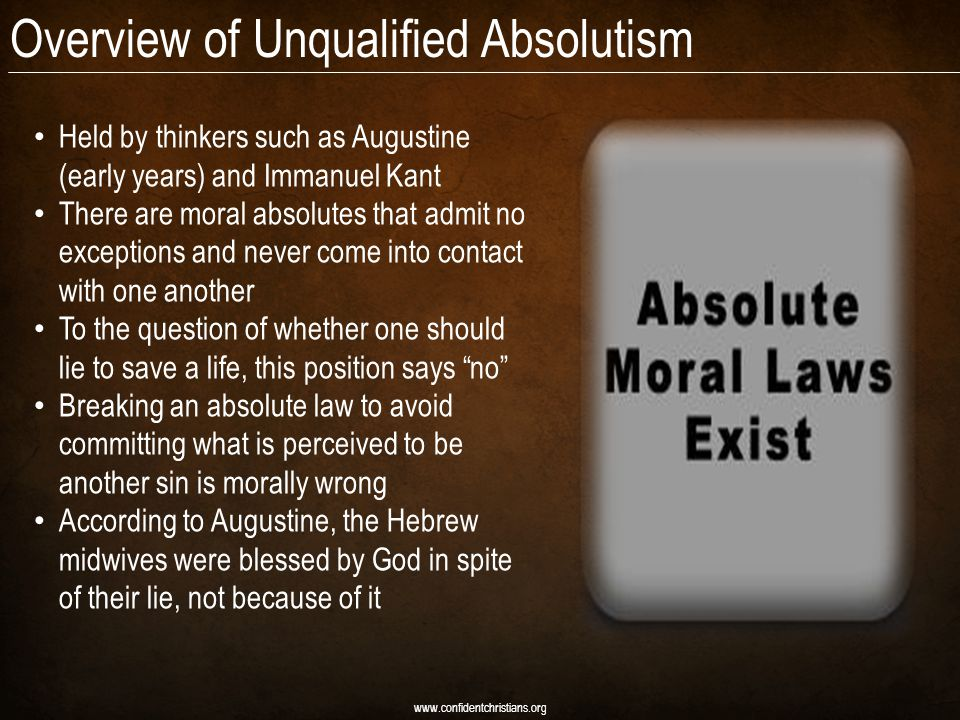 Overview of Unqualified Absolutism