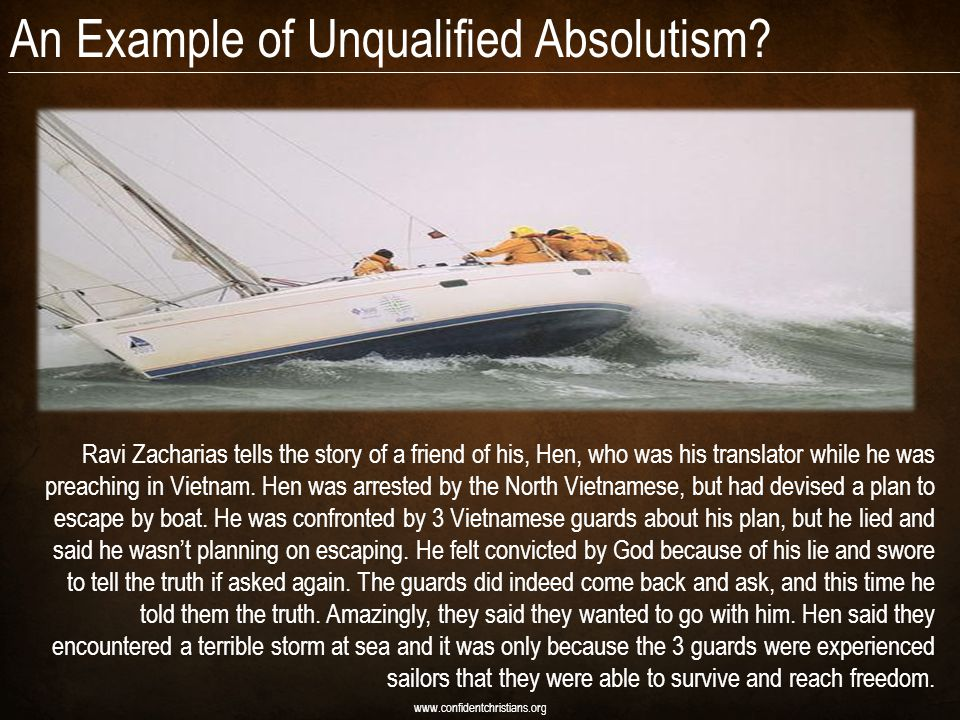 An Example of Unqualified Absolutism