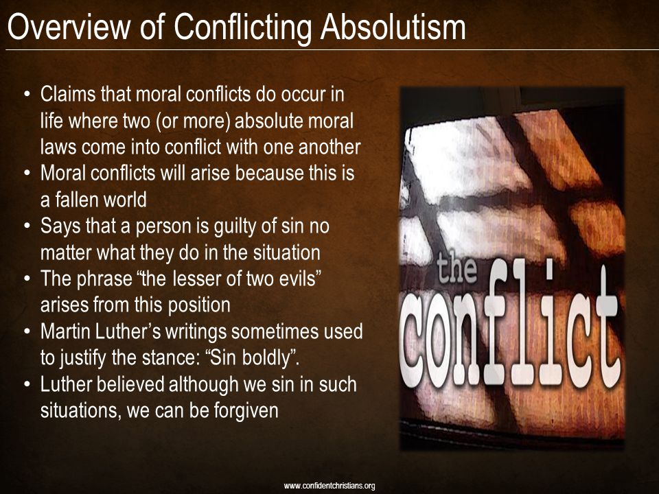 Overview of Conflicting Absolutism