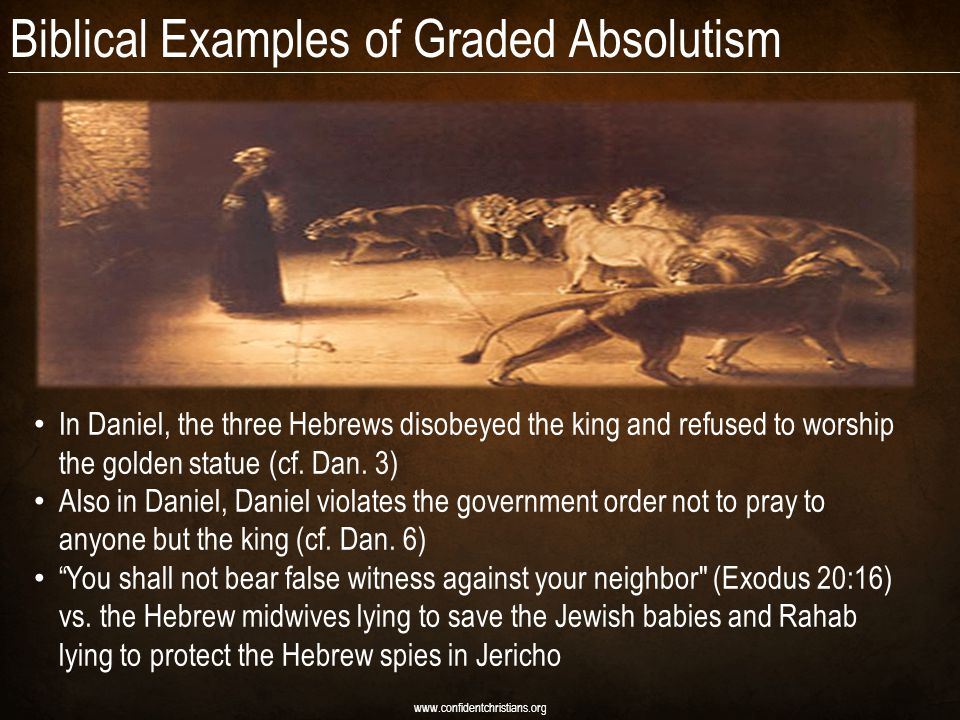 Biblical Examples of Graded Absolutism
