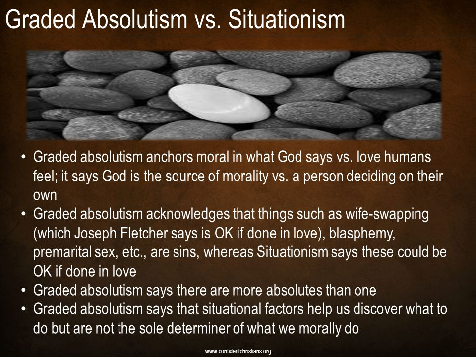 Graded Absolutism vs. Situationism