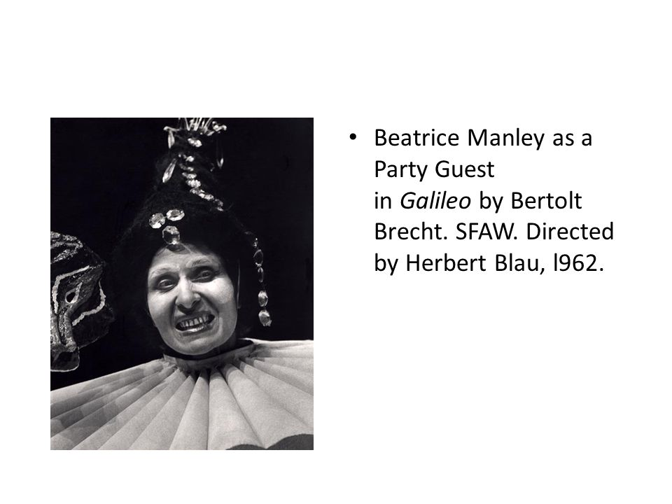 Beatrice Manley as a Party Guest in Galileo by Bertolt Brecht. SFAW