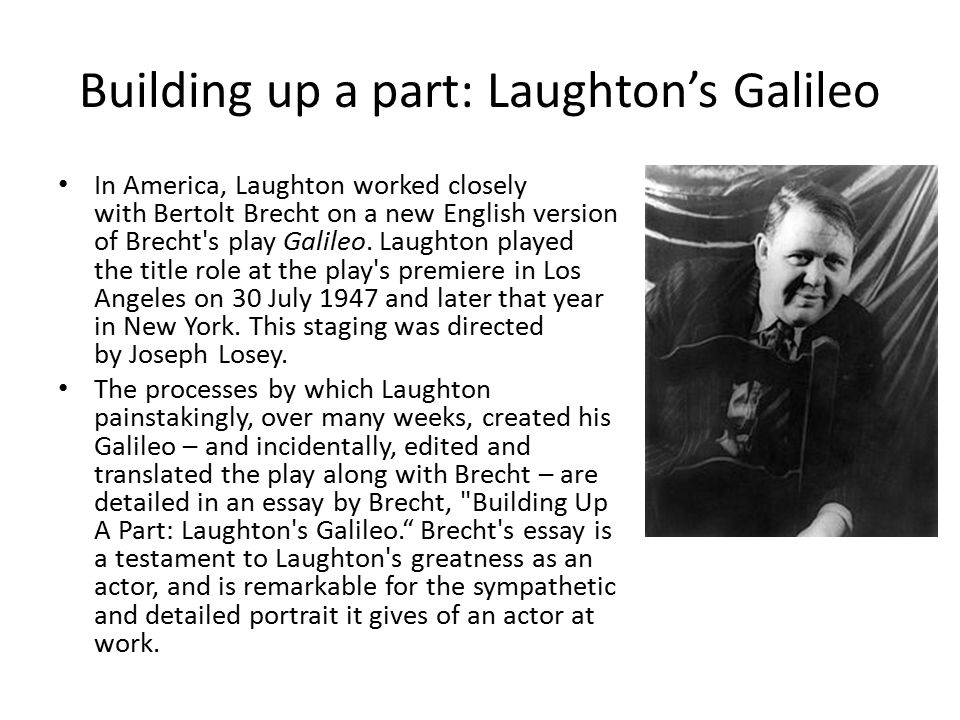 Building up a part: Laughton's Galileo