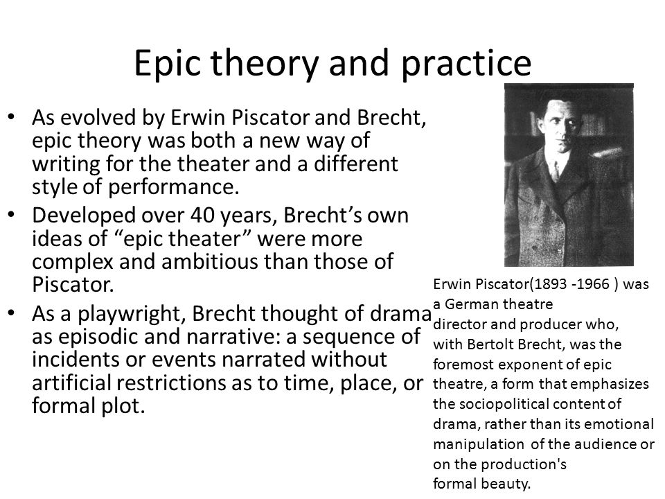Epic theory and practice
