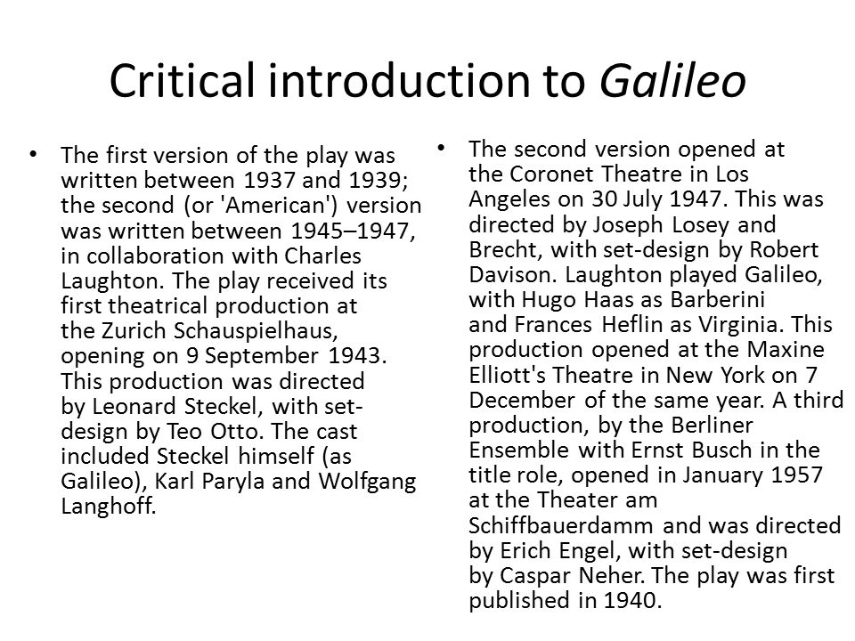understanding theatricalism and epic theater ppt video online  critical introduction to galileo