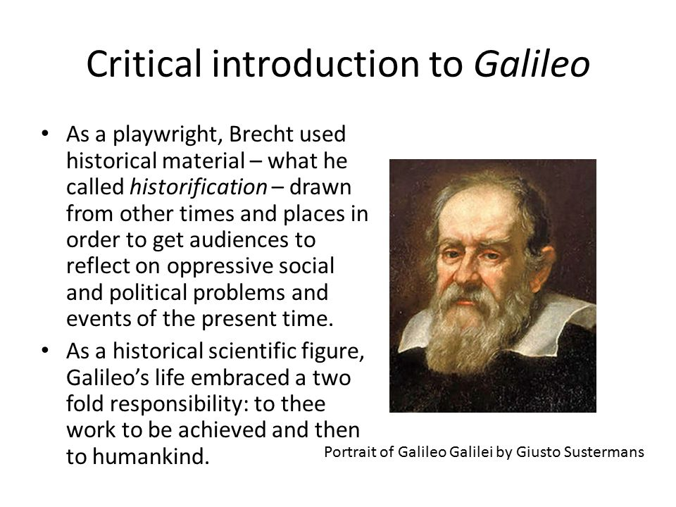Critical introduction to Galileo