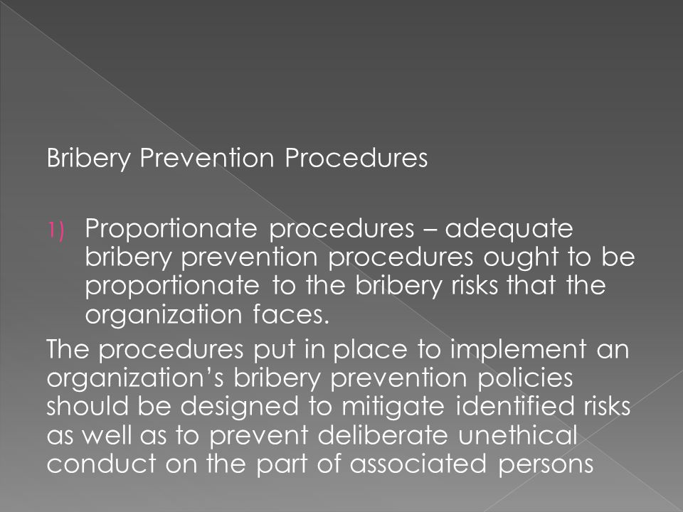Bribery Prevention Procedures