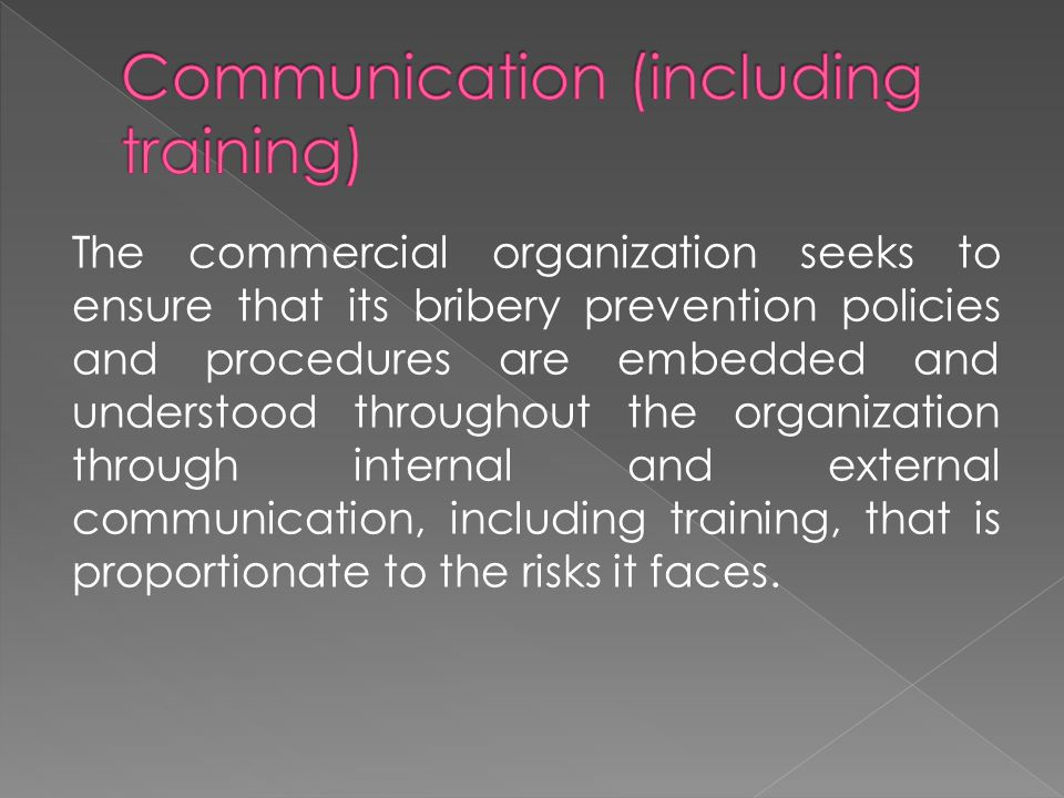 Communication (including training)