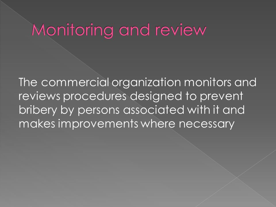 Monitoring and review