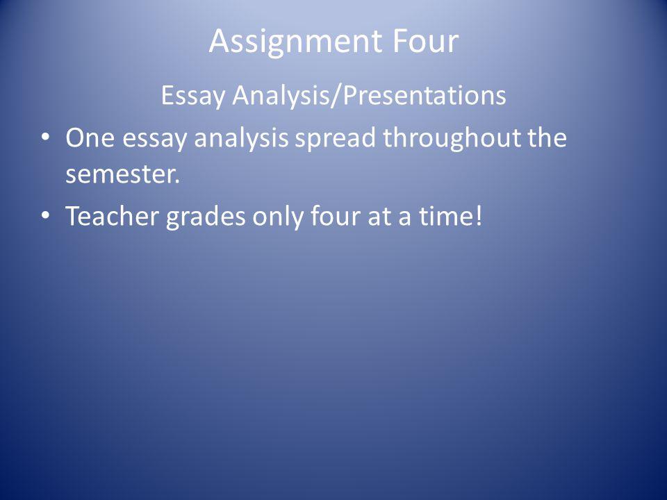 Essay Analysis/Presentations