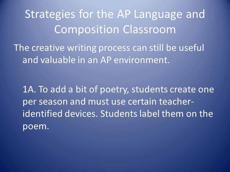 Strategies for the AP Language and Composition Classroom
