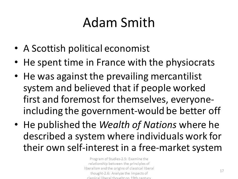 Adam Smith A Scottish political economist