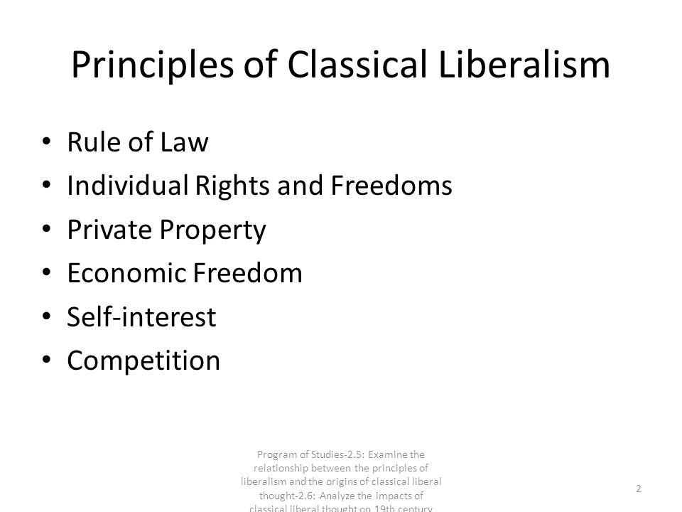 Principles of Classical Liberalism