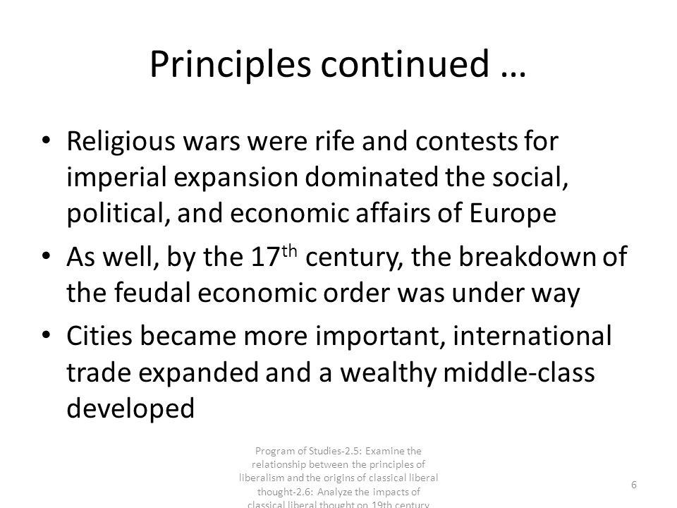 Principles continued …