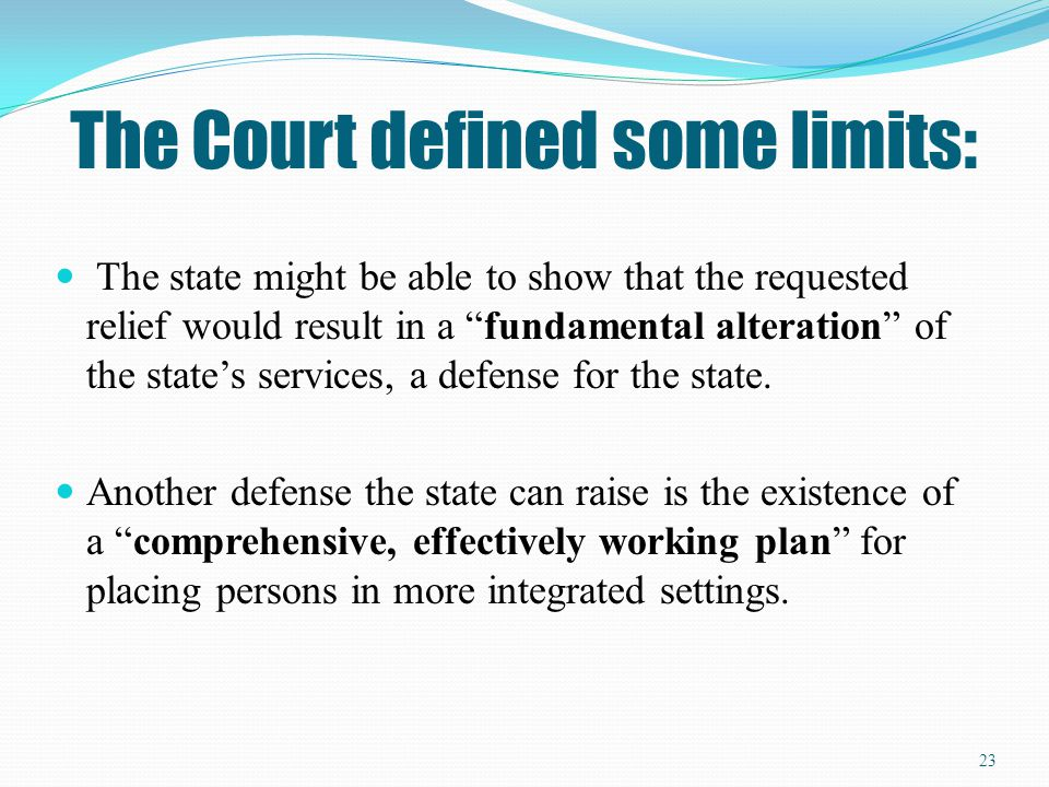 The Court defined some limits: