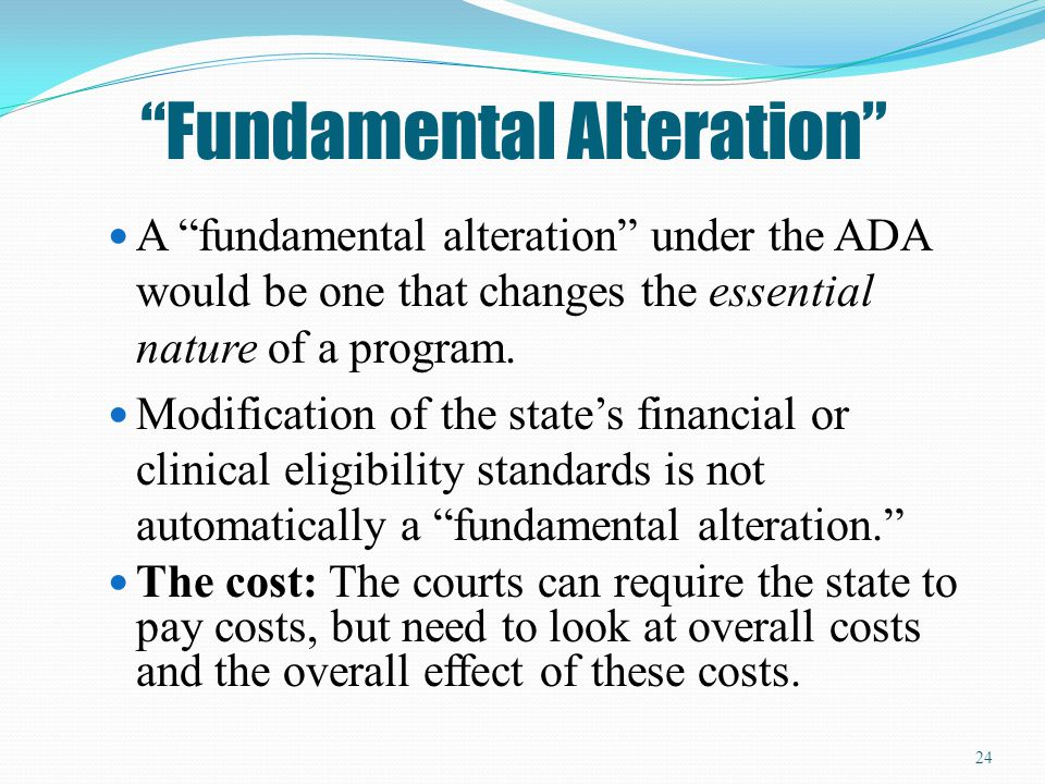 Fundamental Alteration