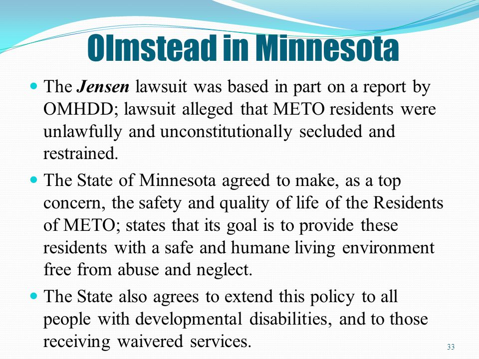 Olmstead in Minnesota