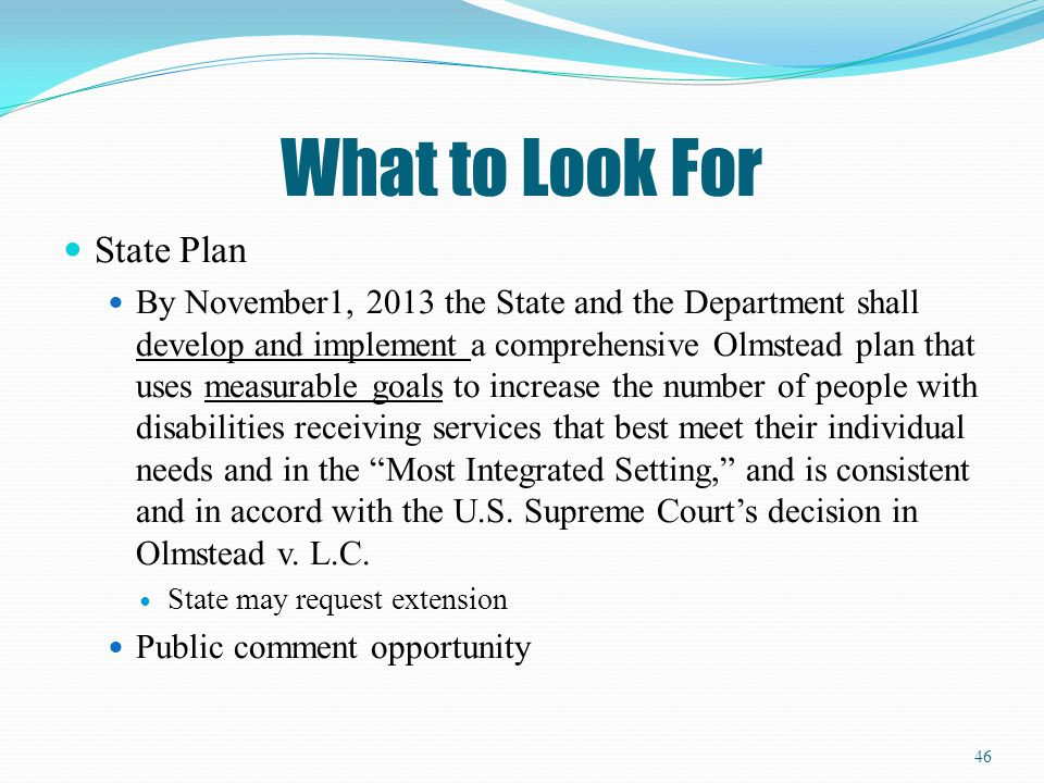 What to Look For State Plan