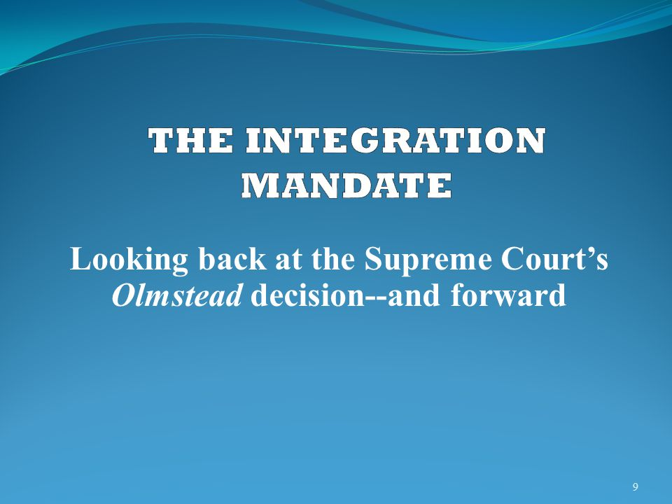 THE INTEGRATION MANDATE