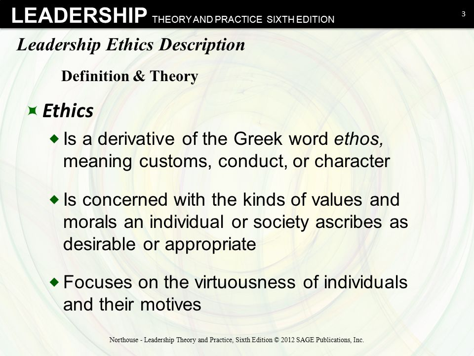 Leadership Ethics Description