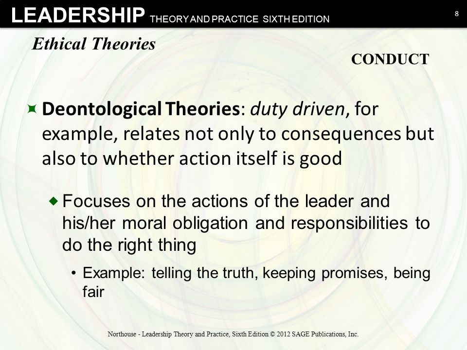 Ethical Theories CONDUCT.