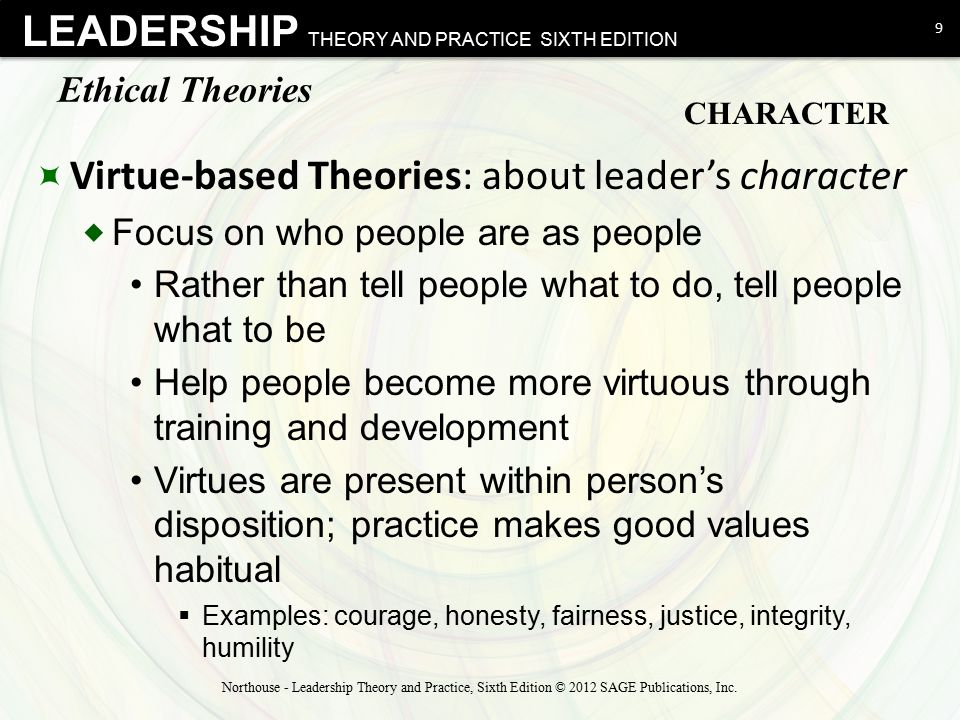Virtue-based Theories: about leader's character