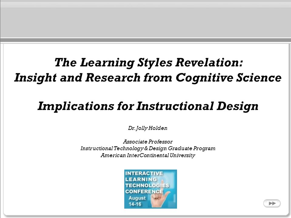The Learning Styles Revelation: